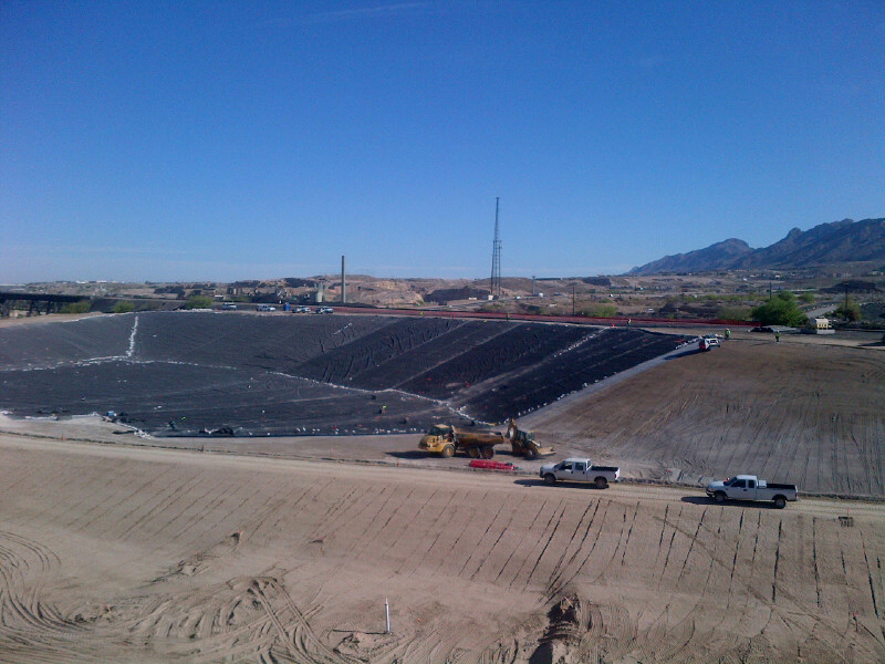 Lining the landfill, May 5, 2013