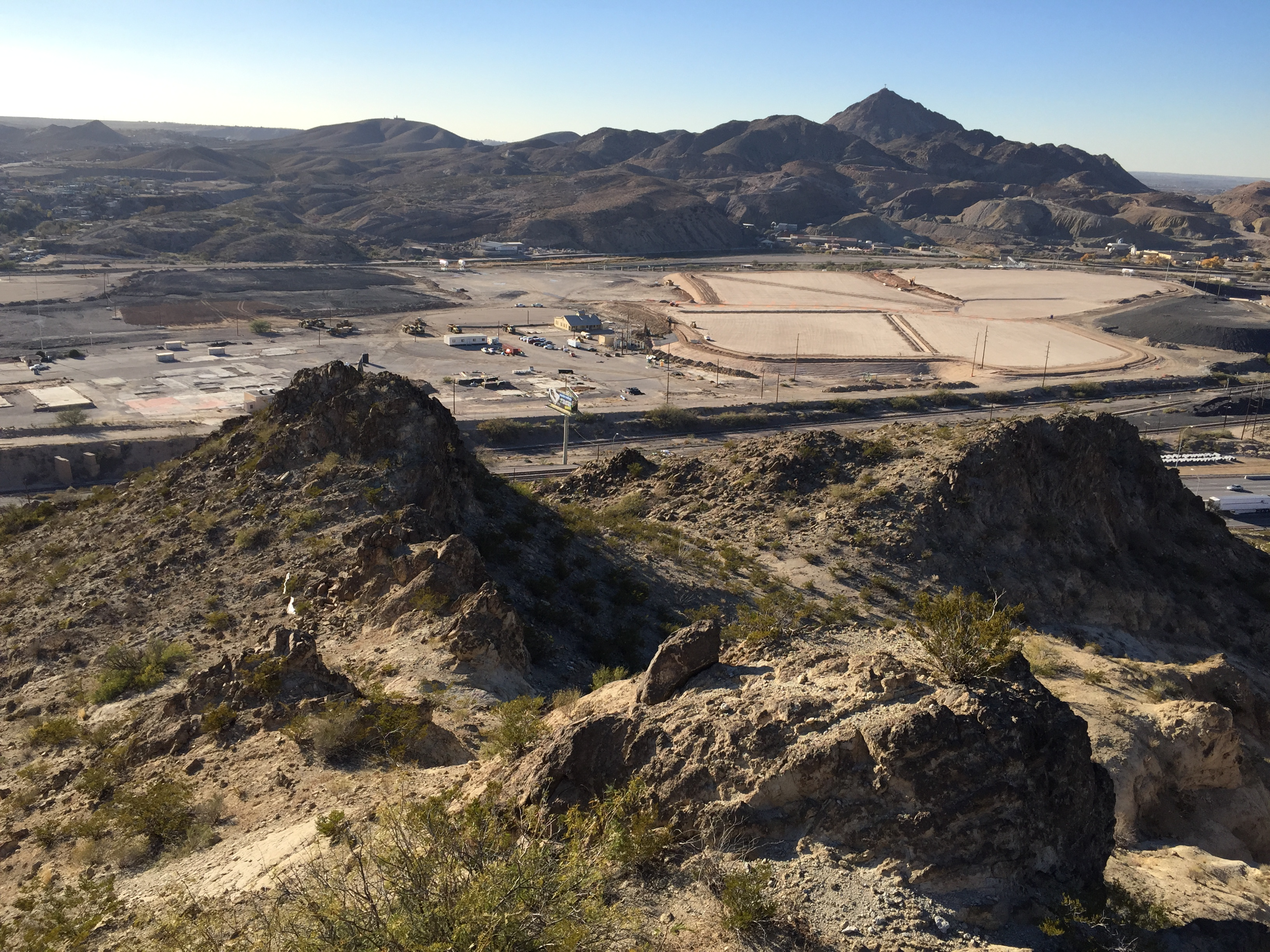 View NW of Asarco Site