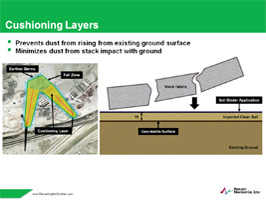 Chimney Demolition Cushioning Layer