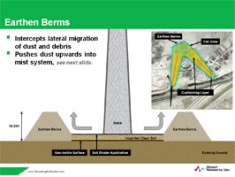 Chimney Demolition Earthen Berms