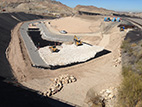 Articulated Concrete Block and Rip Rap are Placed in the Channel - February 10, 2015